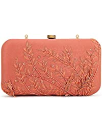SVAZ Designer Delicate Hand Embroidery, Thread Work Clutches For Women And Girls - B07GTF5N7M