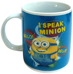 "Minions - Taza regular""I speak Minion"" de 320 ml, color azul (United Labels 812153)"