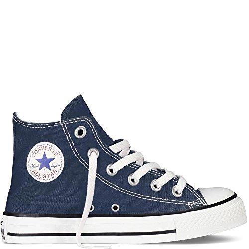 CONVERSE 156738C blu jeans scarpe sneakers alta lacci tela 38