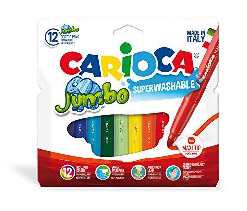 Carioca pennarello jumbo c/12 colori-punta spessa