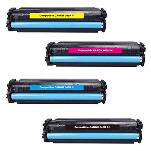 002 Cyan Toner-kassette (4x YOUTONER SPARSETS für Canon I-Sensys LBP-610 Series LBP-611 Cn LBP-612 Cdw LBP-613 Cdw [045H / 1246C002 / 1245C002 / 1244C002 / 1243C002 ] - BK C M Y)