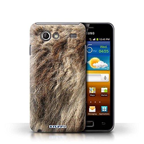 Coque en plastique pour Samsung Galaxy Advance Collection Motif Fourrure Animale - Léopard Loup
