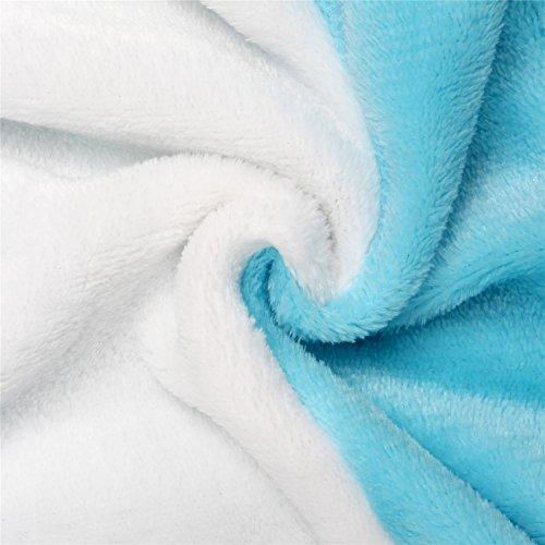 Einhorn Pyjamas Kostüm Jumpsuit -Karneval Cosplay Tier Schlafanzug Onesies Erwachsene Unisex Kigurumi (Medium, Blau) - 6