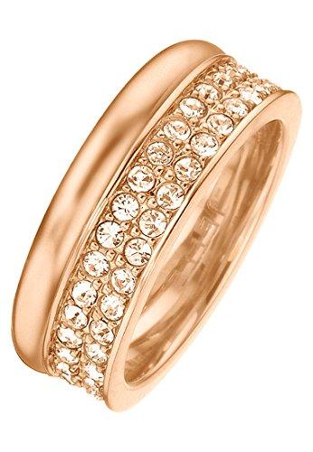 JETTE Magic Passion Damen-Ring Jette Silber Metall 70 Kristall rosé, 57 (18.1)