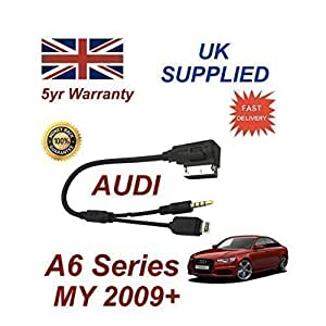 Câble Audio AMI MMI AUDI Séries 6 Pour iPhone 5 5c 5s 6 Et 6 Plus + Câble AUX 3,50mm