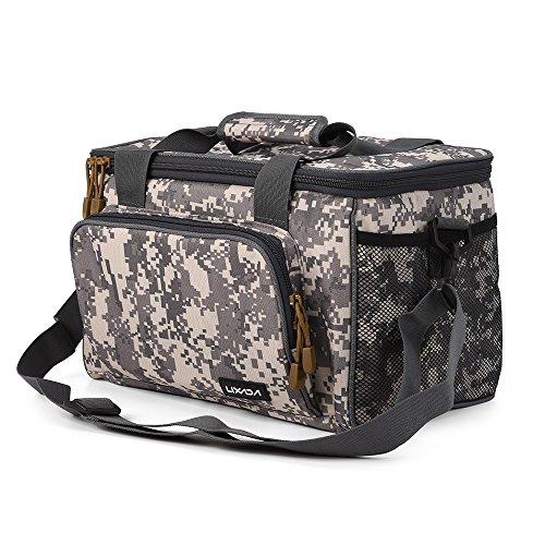 Lixada borsa da pesca canvas pesca borsa tracolla pacchetto di pesca borsa di pesca sacchetto esca bobina borsa custodia