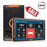 Xgody X5 - Sistema di navigazione GPS per auto da 5 pollici, navigatore satellitare GPS per monitor touch screen