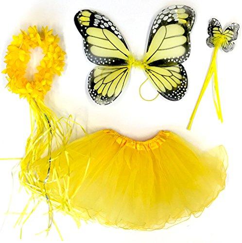 Tante Tina - Schmetterling Kostüm für Mädchen - -