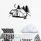 yaoxingfu Tienda de campaña de Camping Pegatinas de Pared para Habitaciones de niños de Vinilo diseño Mural decoración del hogar Arte Resto de Vacaciones Pared Creativa extraíble l61 cm x 42 cm