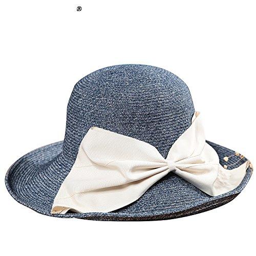 LLZTYM Femelle/Chapeau De Parasol/Paille/Cool/Crème Solaire/Chapeau De Plage/Cadeau/Chapellerie/Chapeau Tibetan green color