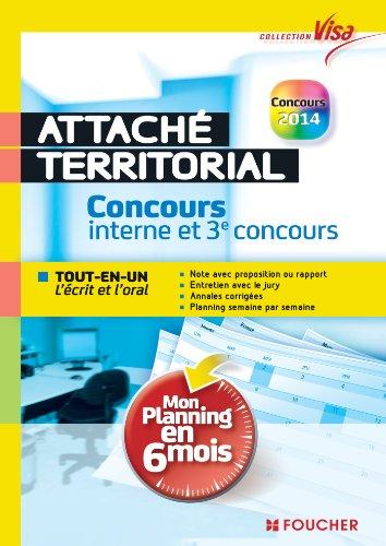 Visa - Attach territorial - Concours interne et 3e concours - Mon planning en 6 mois