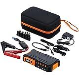 Auto Starthilfe G7 600 A Spitzenstrom 18000mAh Batterie Ladegerät Tragbare USB Ladegerät Externer Akku / Power Bank mit LED-Taschenlampe (Orange)