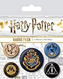 AMBROSIANA Pyramid International - Harry Potter Hogwarts Badge, Multicolore, 10 x 12.5 x 1.3 cm