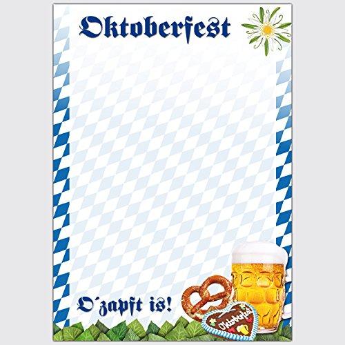 Designpapier Oktoberfest - OŽzapft is! - DIN A5 / 50 Blatt