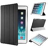 EasyAcc Kunstleder Schutzhülle mit Standfunktion und Auto Sleep / Wake Up für iPad Air 2 / iPad 6, schwarz