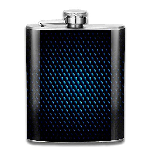 Techno Hexagon Circle Flask Slim,Light And Curved to Fit Pockets PERFECT GIFT For Those Who Deserve The Best