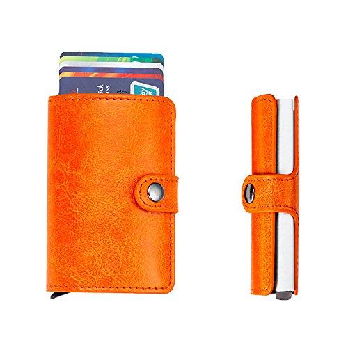 Zhi Jin 1Aluminium Pop Up Business Kartenfächer blockierender ID Name Credit Karten Fall Organizer Box Office Travel Orange (Orange Travel Wallets)