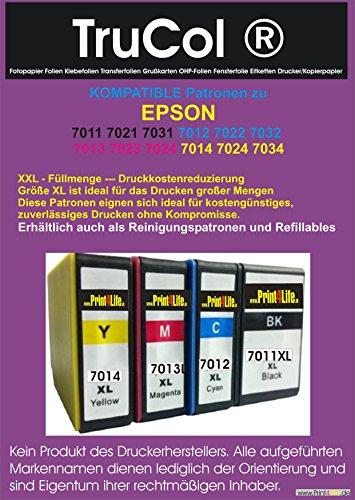 Neue Kompatible Tinte (4 kompatible Druckerpatronen für Epson T-7011 T-7012 T-7013 T-7014 Epson WorkForce PRO WP4545 WP4595 / WP 4015 WP 4025)