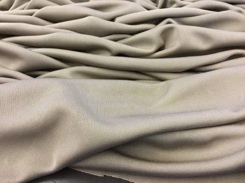 Iana Fabrics Kleid aus Baumwollseide, glatt, Stretch, Crepe-Jersey, Beige Stretch-georgette
