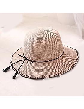 LVLIDAN Sombrero para el sol del verano Lady Anti-Sol Playa pescador hat rosa