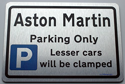 gift-for-aston-martin-owner-metal-faced-car-parking-sign-size-small-210mm-brushed-aluminium-made-by-