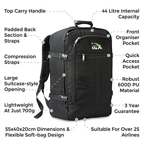 Cabin Max Metz Flugzugelassenes Backpack Groß leichtgewicht Handgepäckstück 55x40x20cm Emoji