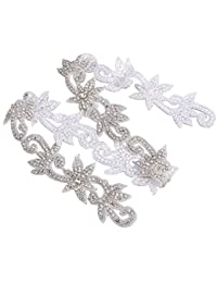 Cinturón con apliques de diamantes de imitación y cristal de Rosenice, accesorio ideal para vestidos de noche o vestidos de novia
