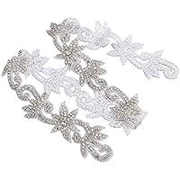 rosenice apliques de cristal Rhinestone Sash–Cinturón de vestido de fiesta de boda, las mujeres ropa accesorios