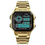 SKMEI Business Men Uhren Wasserdicht Casual Uhr Edelstahl Digital Armbanduhr Uhr
