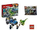 Lego Juniors Rettungstruck für Den Raptor 10757 Unterhaltungsspielzeug 30382 Jurassic World Polybag Baby Velociraptor Playpen