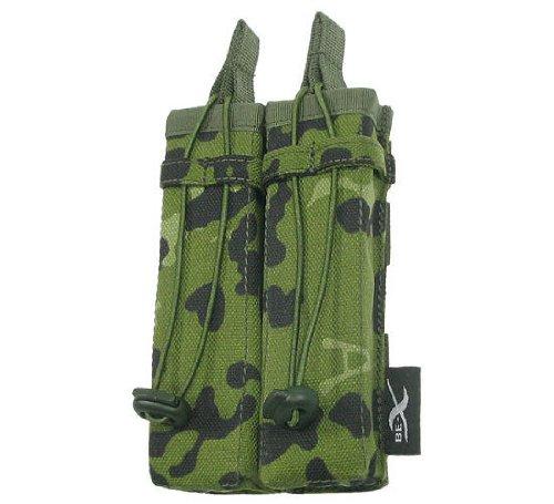 BE-X Offene Magazintasche für CQB, für MOLLE, für zwei MP5 Magazine - dänisch tarn