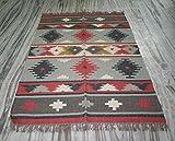 silkroude Kelim Teppich handgefertigt Kelim Teppich Teppich 4x 6'Ft Wolle Jute Kelim Teppich Wolle Teppich Teppich 121,9x 182,9cm Zoll