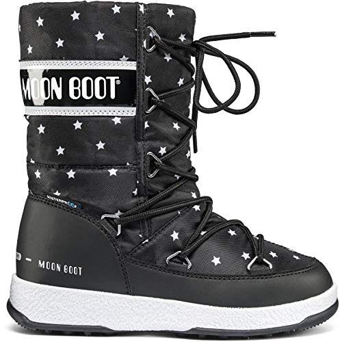 Moon Boot W.E. Quilted Star WP Girls Black-White Schuhgröße 33 2018 Stiefel