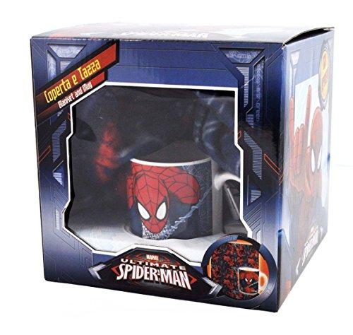 detailed look 80bee 6c6ab M94237 Mc - Set Tazza E Coperta Spiderman Multicolore
