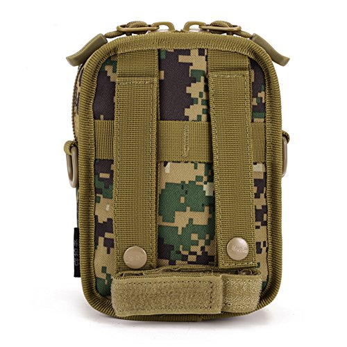Military Tactical MOLLE wasserabweisend Gadget Tool, Organizer Tasche Taille Gürtel Valencia EDC Tasche Pack mit Schultergurt Jungle digital