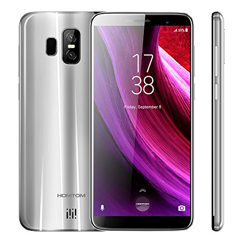 HOMTOM S7 Smartphone Pantalla Completa de 5.5 Pulgadas Móvil 4G LTE Smartphone 3GB RAM 32GB ROM 640 x 1280P HD IPS Android 7.0 MTK6737 Quad Core 1.3GHz Parte Delantera 8MP Back Dual 13 + 2MP 2900mAh