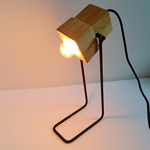 SDKIR-Charakter Kunst der einfachen Design Ideen stilvoll mit Holz Tischleuchte Studio Schlafzimmer den bar (Buch Ideen Charakter)