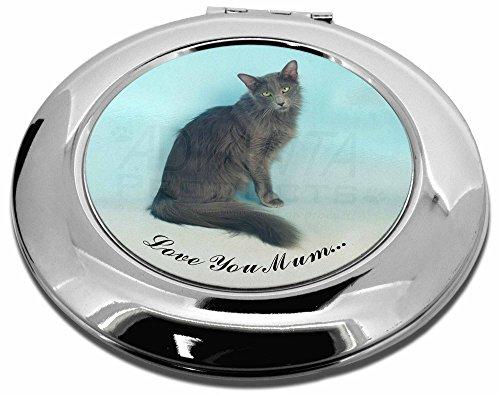 Javanese-Katze 'Love You Mum' Make-up Rund Taschenspiegel Weihnachten Geschenk -