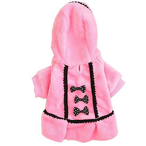Tonsee Niedlich Hundebekleidung Hunde Super weich Fleece Kostüm Hundemantel Jacke Pet Supplies Kleidung Hunde Warme Mode Pullover Mit Kapuze (M, Rose) -