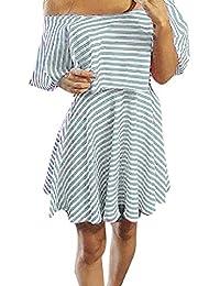3e55cd82ea CANDLLY Vestidos de Fiesta Mujeres Elegante Faldas de Rayas Falda de Playa  Sexy Faldas Cortas Vestido Hermoso para Chicas Regalos para…