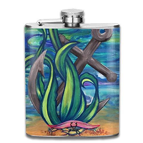 Kaixin J Physik-Wissenschafts-Test-Edelstahl-Alkohol-Flagon-Retro Taschen-Flasche Edelstahl-Reise-Flasche Großes kleines Geschenk, sicher und ungiftig