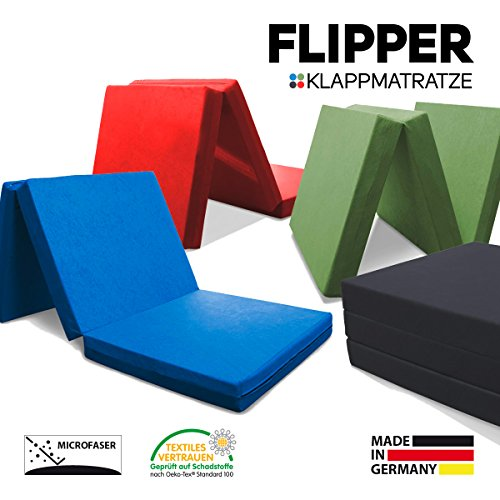 myBubo Klappmatratze Faltmatratze Klappbett Flipper Grün - Made IN Germany - als Matratze/Gästebett/Gästematratze einsetzbar