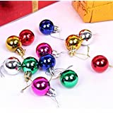 Multi-Colored Christmas Tree Balls In The Tinsel Christmas Ornaments, Christmas Decorations For House Pack Of 12