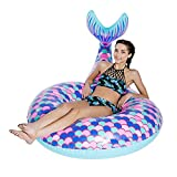 0℃ Outdoor Riesige Meerjungfrau Schwanz Pool Float, Lustige Aufblasbare Vinyl Sommer Pool Oder Beach Toy
