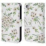 Head Case Designs Offizielle Julia Badeeva Weisser Blumenstrauss 2 Gemischte Muster 4 Brieftasche Handyhülle aus Leder für iPhone 4 / iPhone 4S