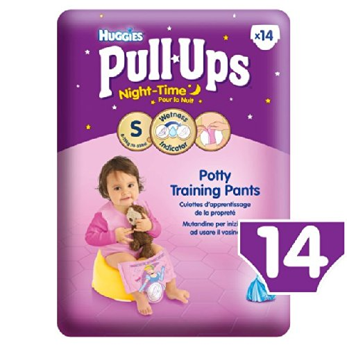 Huggies Small Pull-Ups Night Time 8-15kg Girls 14 per pack