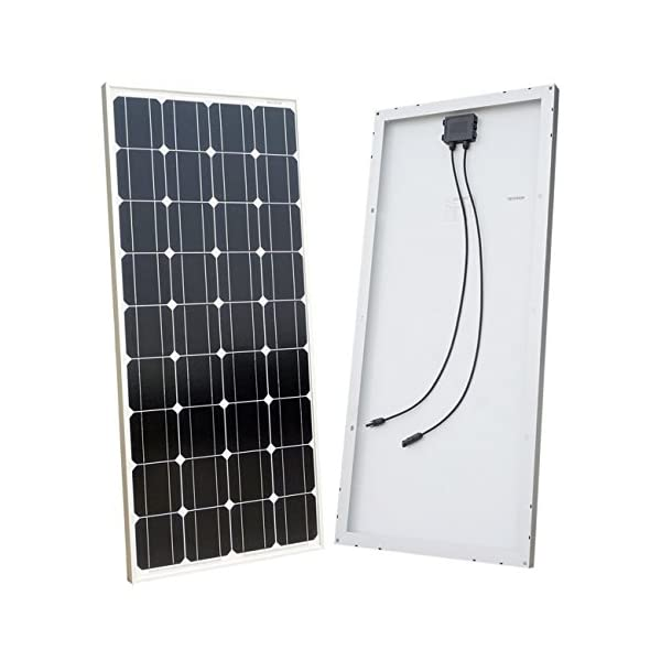 ECO-WORTHY 12 Volt 100 Watt Monocrystalline Solar Starter Kit: 1pc 100W Mono Solar Panel + 20A LCD Solar Controller + 30Ft Solar PV Cable with MC4 Connectors + Z Mounting Brackets 2