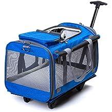 Silla de ruedas para perros, Rueda plegable para mascotas, transportador de mascotas, cochecito