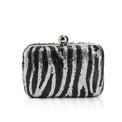 Fashion Abendtasche Clutch Bag Bankett Paket Schulter Messenger Bags High-End-Pailletten-Tasche Black