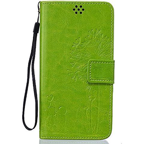 Beiuns Funda de PU piel para Xiaomi Redmi Note 3 / Note 3 Pro (5,5 pulgadas) Carcasa - TX523 matcha